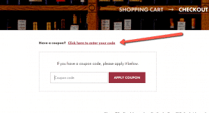 Where to apply your coupon on the checkout page