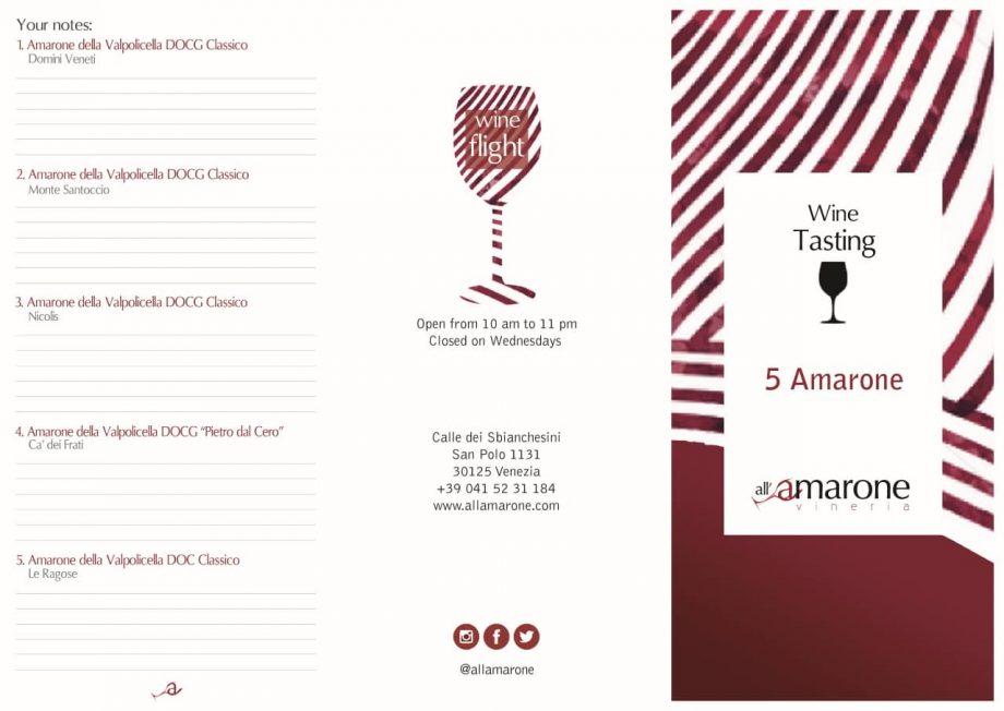 Brochure - Amarone onlin Wine Tasting at Home